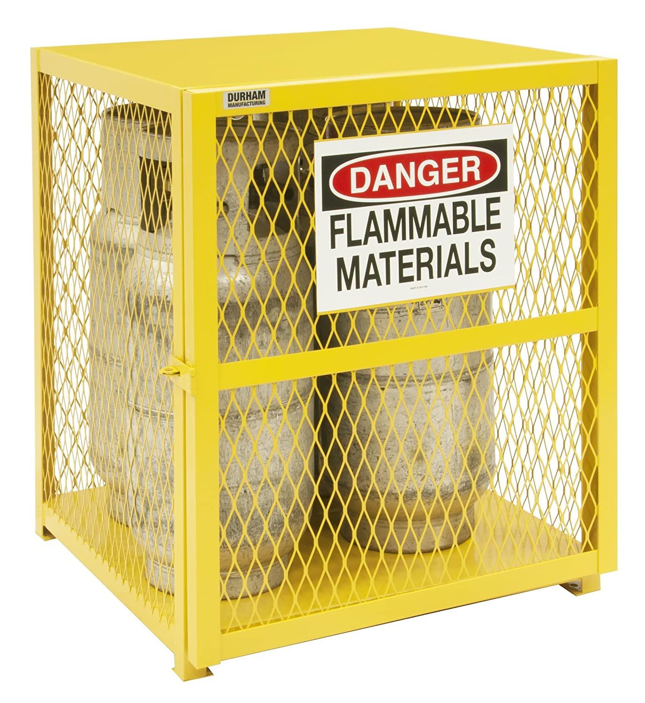 Durham Steel/Iron Vertical Cylinder Storage Cabinet, EGCVC4-50, 4 Cylinder Capacity, 30