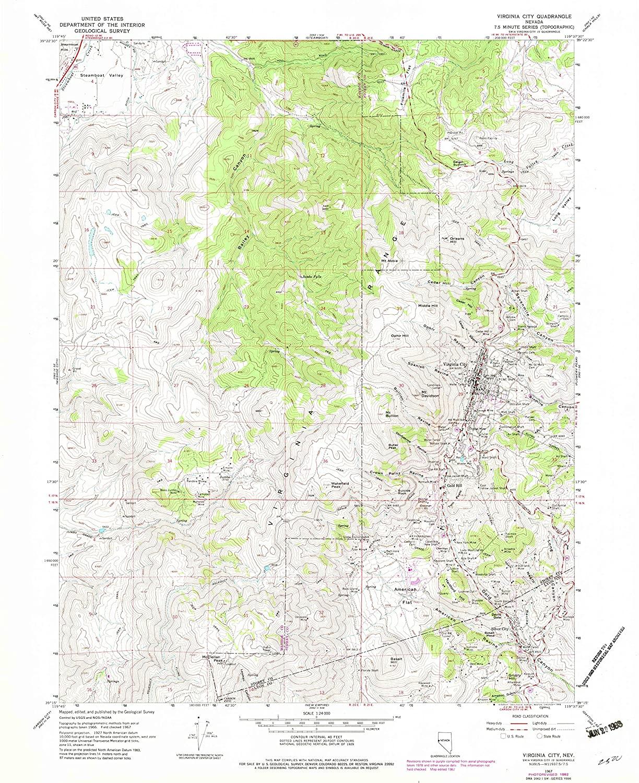 Map Print - Virginia City, Nevada (1967), 1:24000 Scale - 24