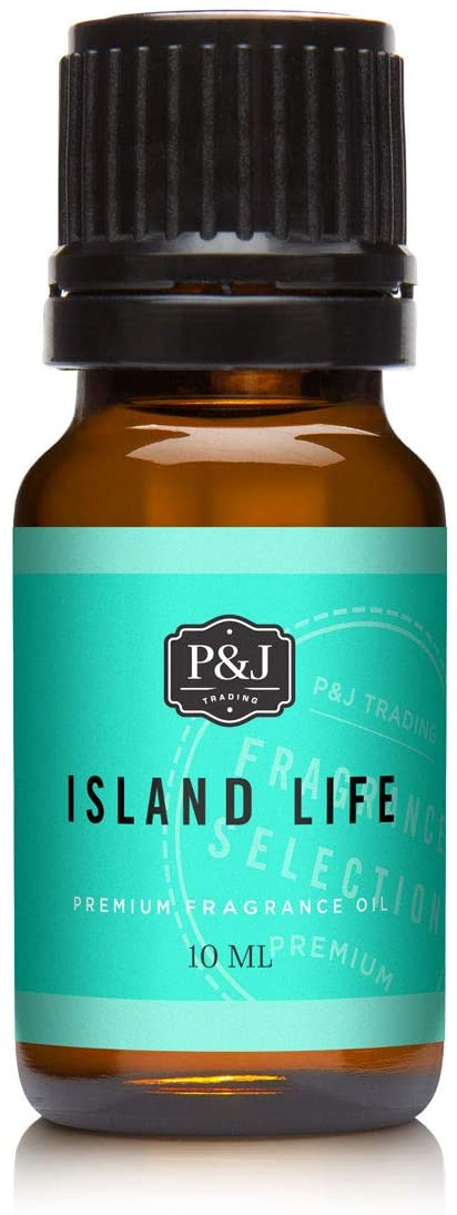 P&J Fragrance Oil | Island Life 10ml - Scented Oil for Soap Making, Diffusers, Candle Making, Lotions, Haircare, Slime, and Home Fragrance