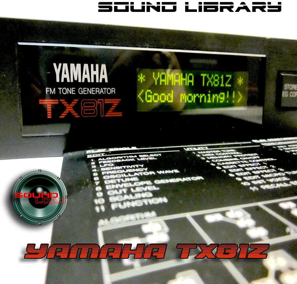 YAMAHA TX81Z Large Original Factory & New Created Sound Library/Editors PC/Mac/Atari on CD or download