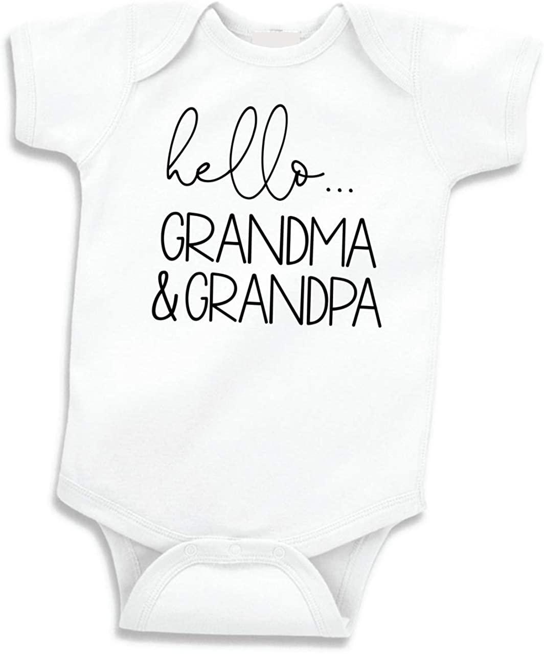 Bump and Beyond Designs Hello Grandma and Grandpa Baby Announcement Gift Grandparents