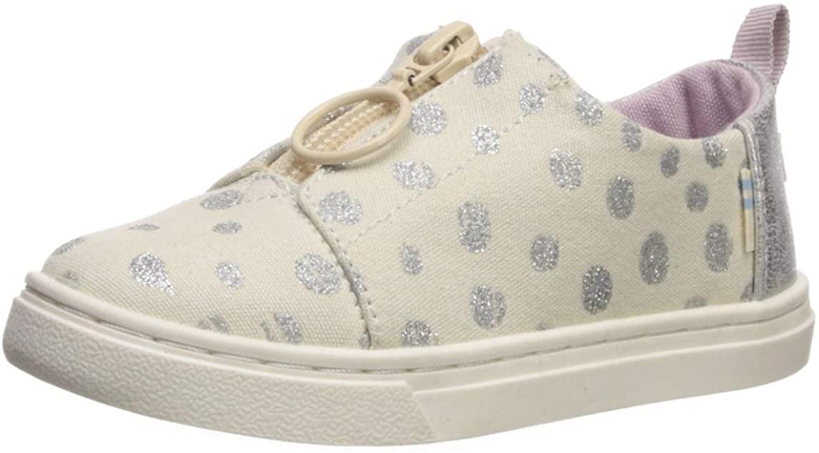 TOMS Tiny Lenny Sneaker, Size: 10 M US Toddler, Color: NAT Met Torn Dots
