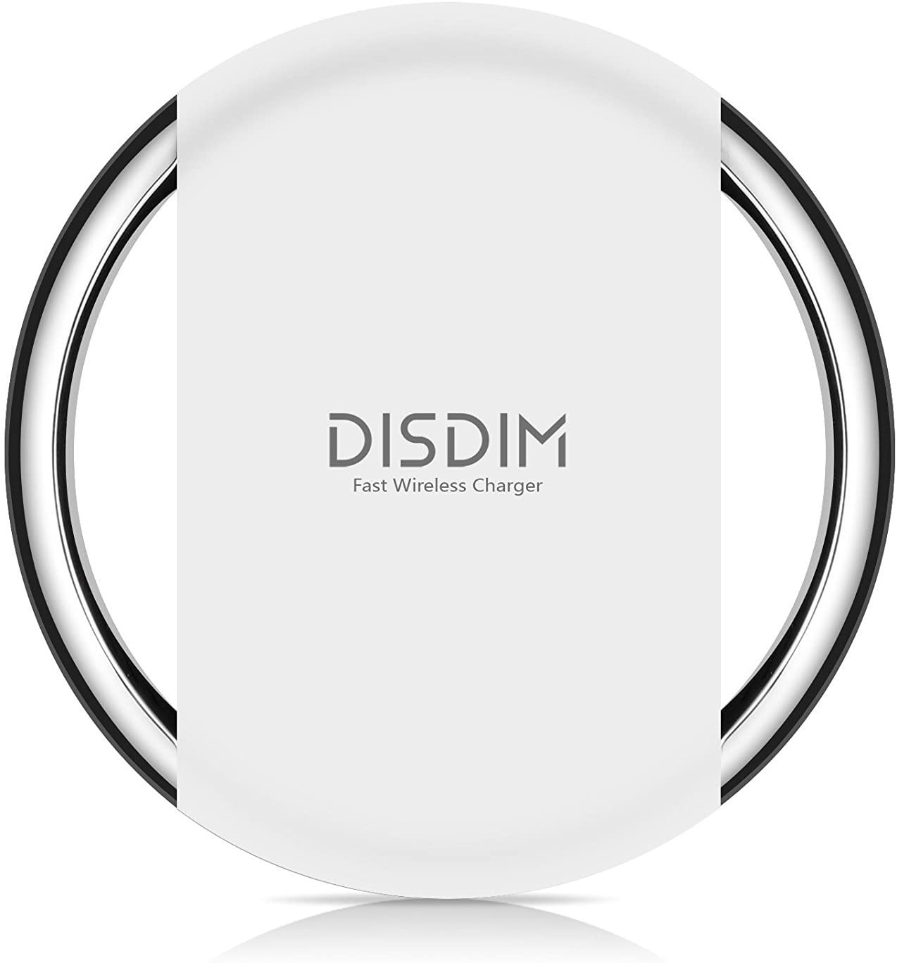 Fast Wireless Charger,DISDIM [Alloy Frame] Breathing Lamp Qi Fast Wireless Charger Charging Pad for Samsung Galaxy S8/ S8 Plus / S7 / and Qi-Enabled Devices (White)