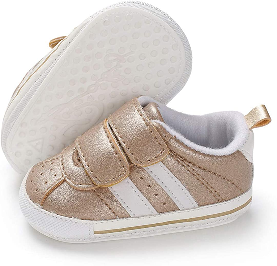 LAFEGEN Toddler Baby Boys Girls Shoes Non-Slip Rubber Sole PU Leather Sneakers Infant Newborn Prewalker Casual Outdoor Crib Shoes (0-18Months)
