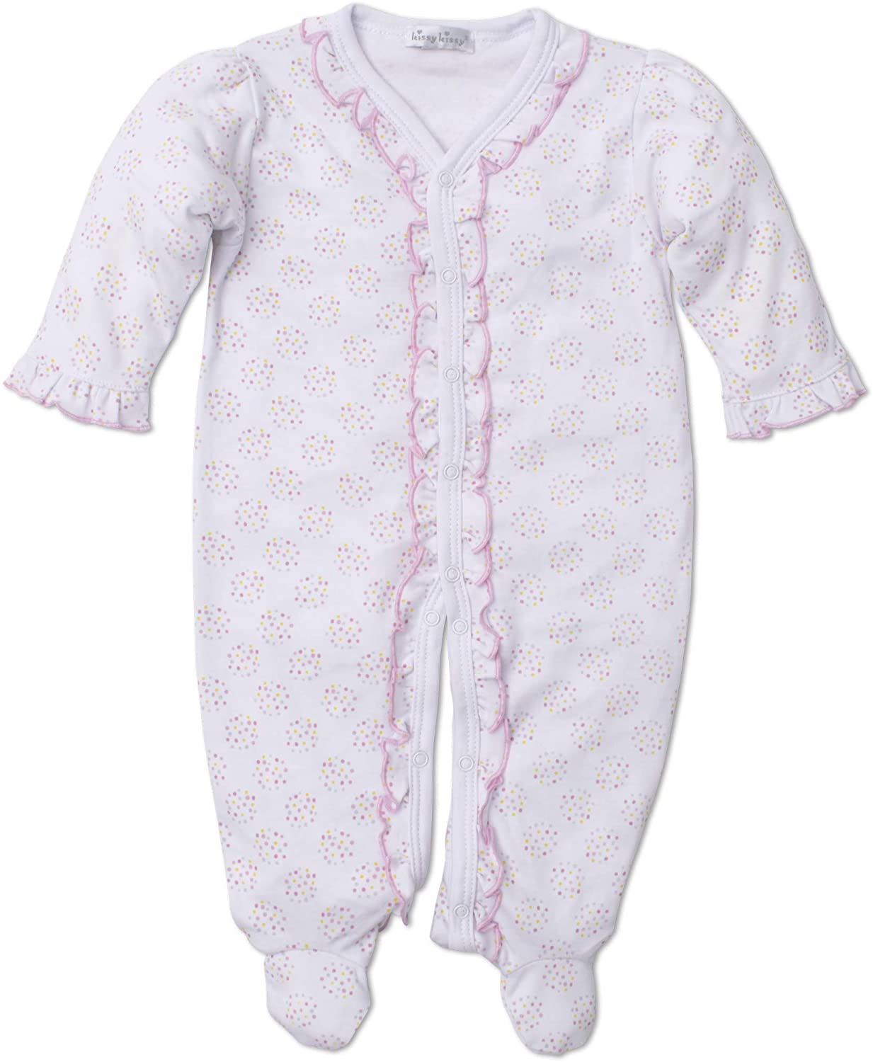 Kissy Kissy Baby-Girls Infant Pups in A Row Footie