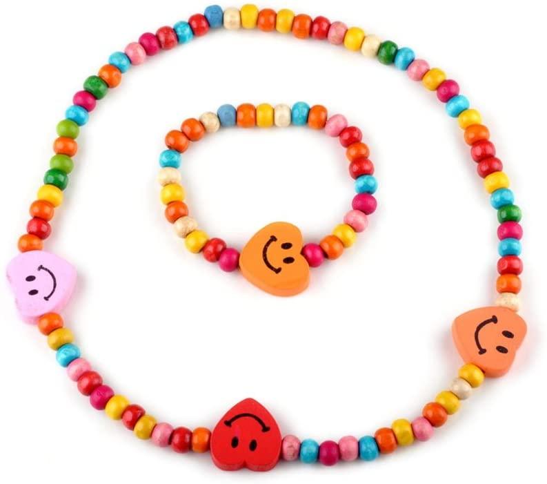 PINKSEE Children Necklace Bracelet Jewelry Set Little Girls Dress up Jewelry