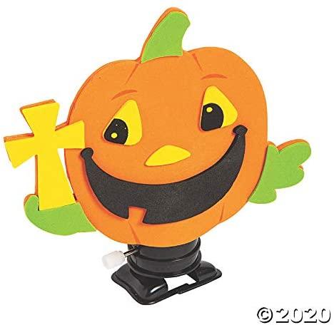 Christian Pumpkin Wind-Up Craft Kit - Craft Kits - 12 Pieces