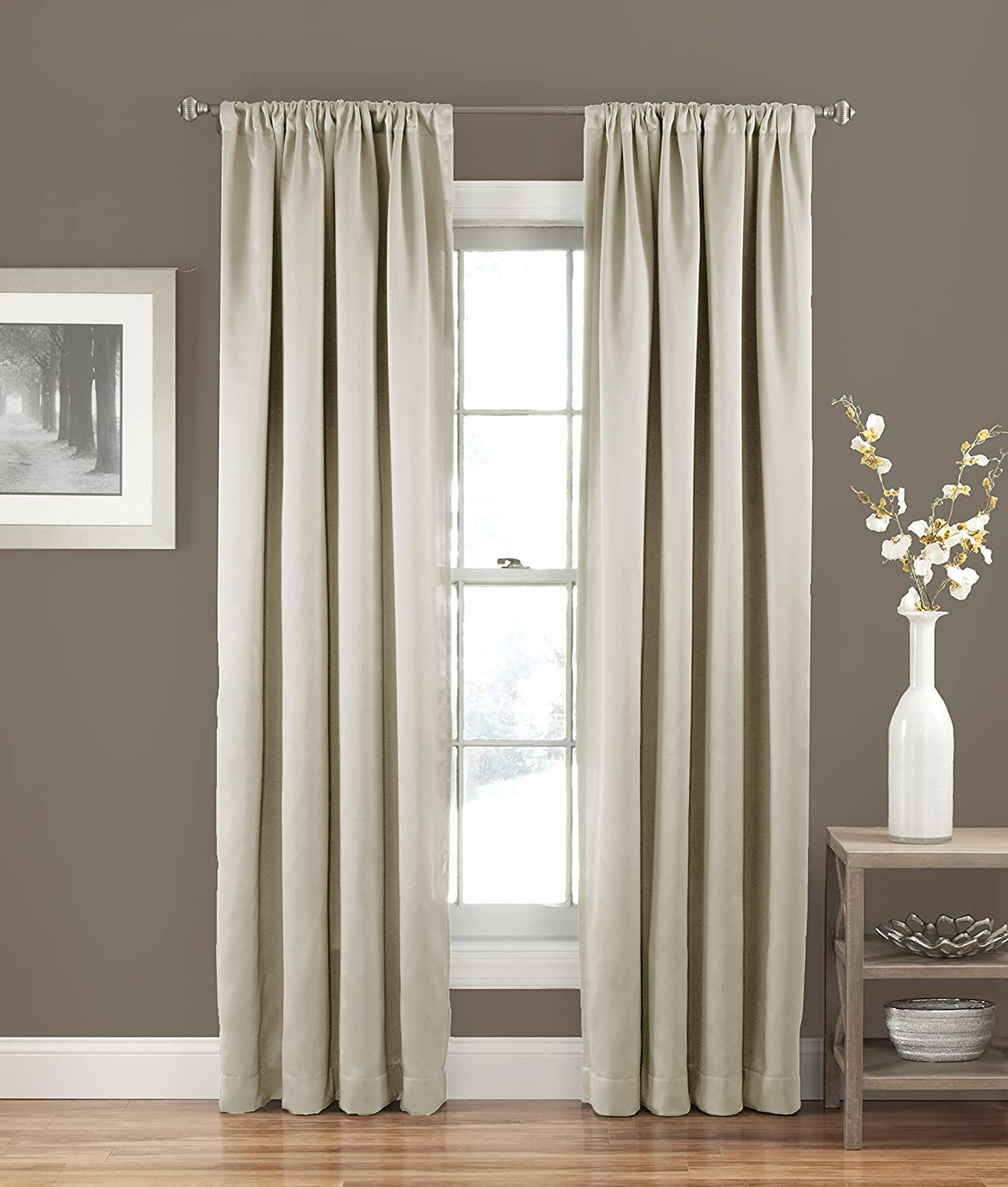 ECLIPSE Room Darkening Curtains for Bedroom - Solid Thermapanel 54