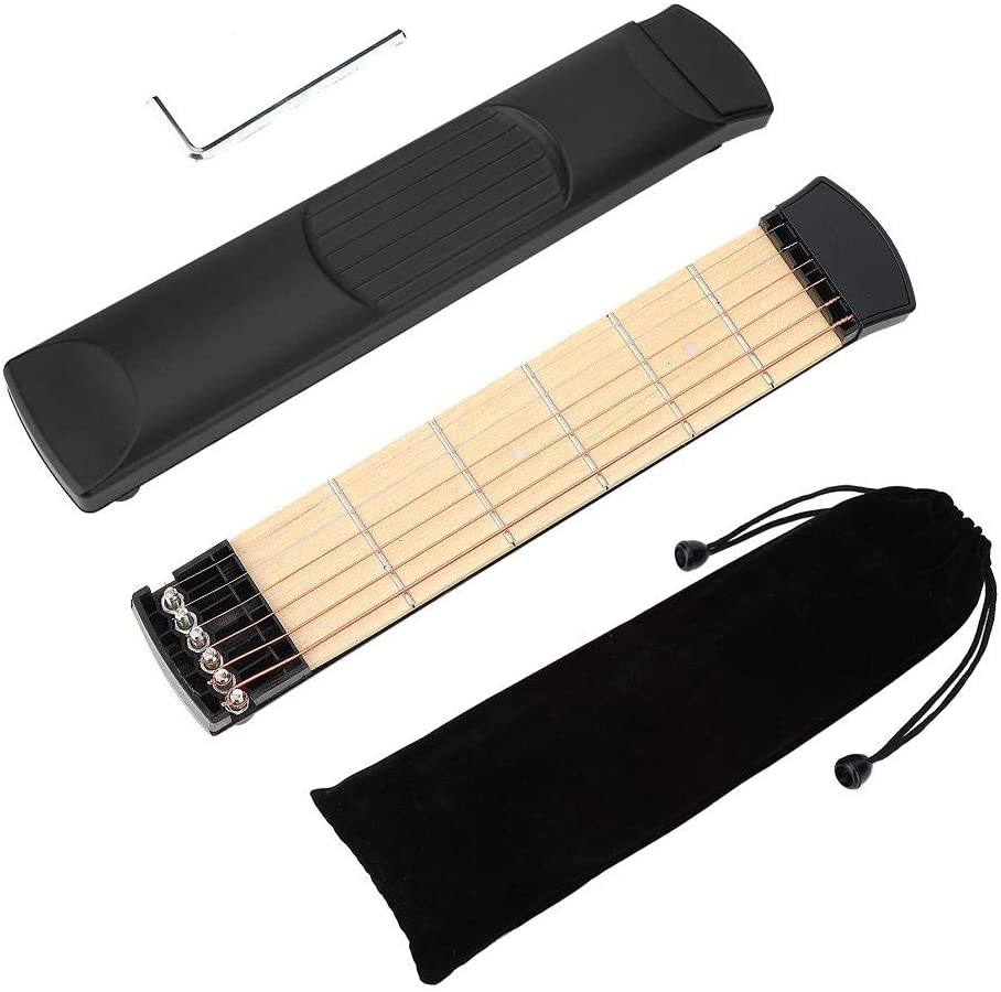Portable 6 Fret Guitar, Left Hand Compact Size Portable Guitar, Durable for Guitar Beginners for Professional Guitarist
