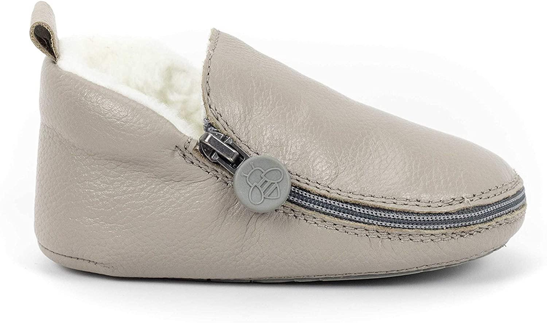 Bukubee Baby Zip-on Leather Baby Shoes