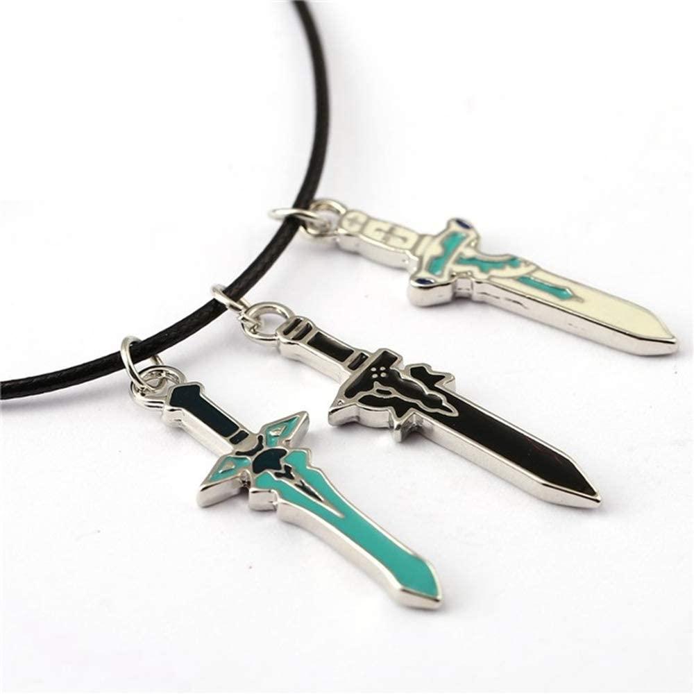 COSAUG Sword Art Online Necklace with Swords Shape Pendants