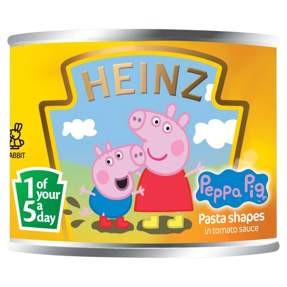Heinz Peppa Pig Pasta Shapes in Tomato Sauce (205g) - Pack of 2