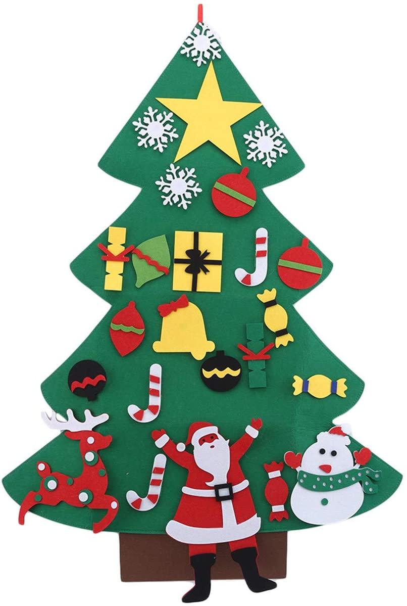 EJY Children Puzzle Handmade DIY Pendant Accessories Felt Home Christmas Tree Decoration Accessories