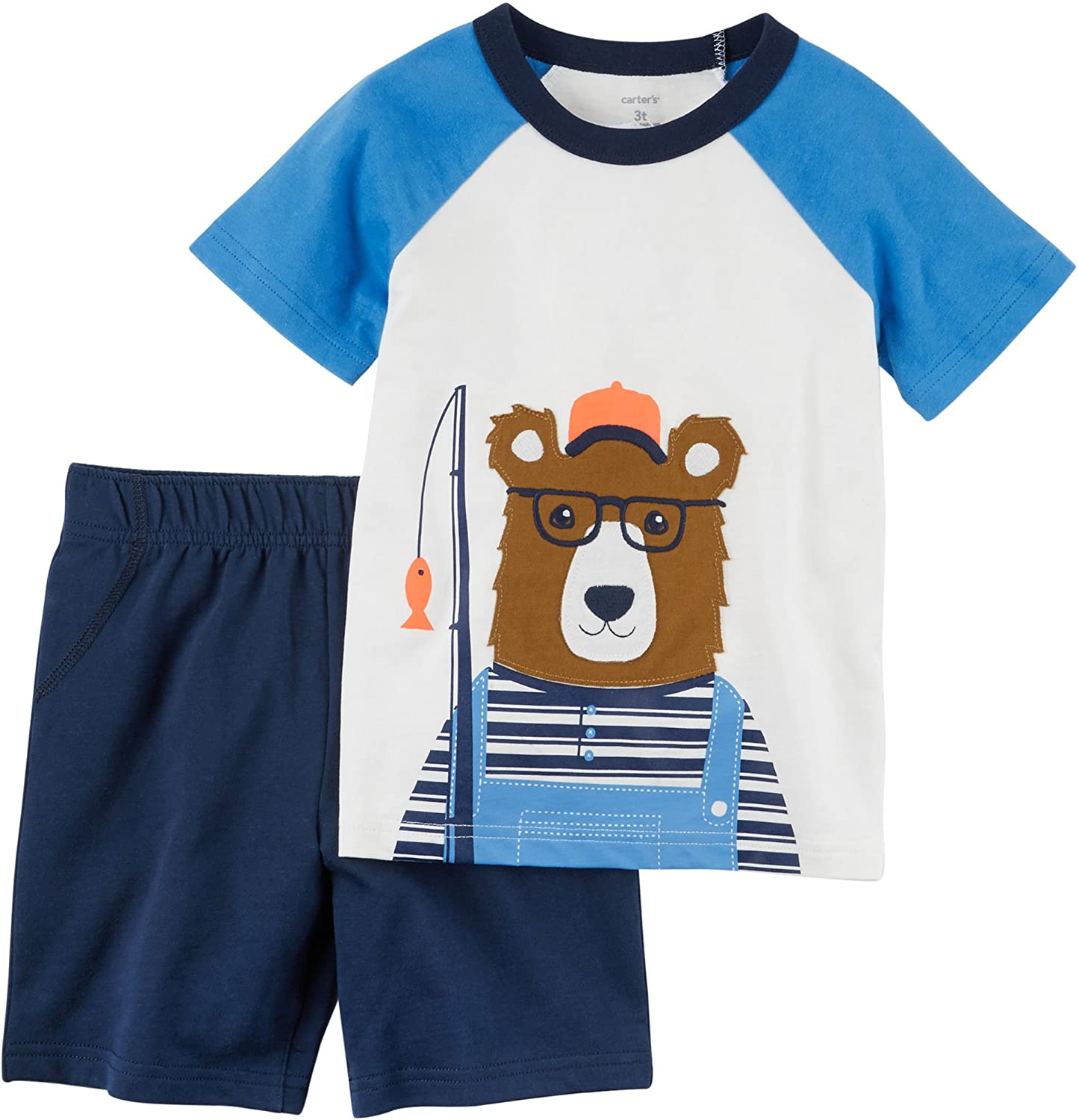 Carters Baby Boys Jersey Bear Tee and French Terry Shorts Set 3 Months