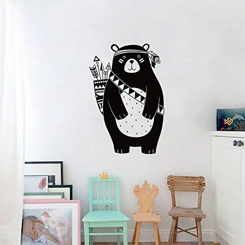 Cute Tribal Woodland Bear Nursery Baby Bedroom Wall Art Vinyl Decal Sticker V249 for Home Bedroom Decor