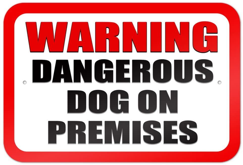 Warning Dangerous Dog on Premises 9