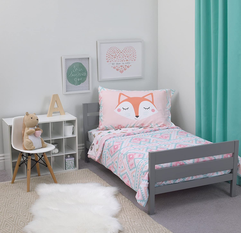 Carter's 4-Piece Toddler Set, Pink/White/Grey Aztec Girl, 52