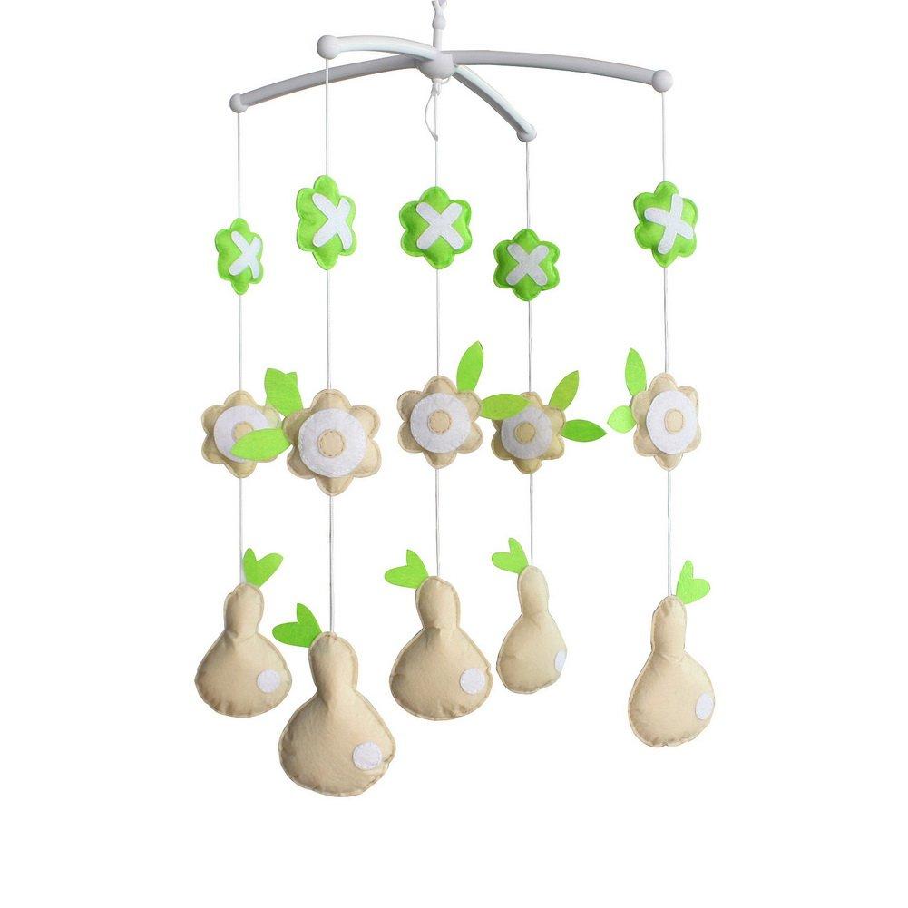 Baby Toys Nursery Decor Funny Newborn Crib Bell Random Music Box (Mozart Lullaby or Brahms Lullaby)-E10