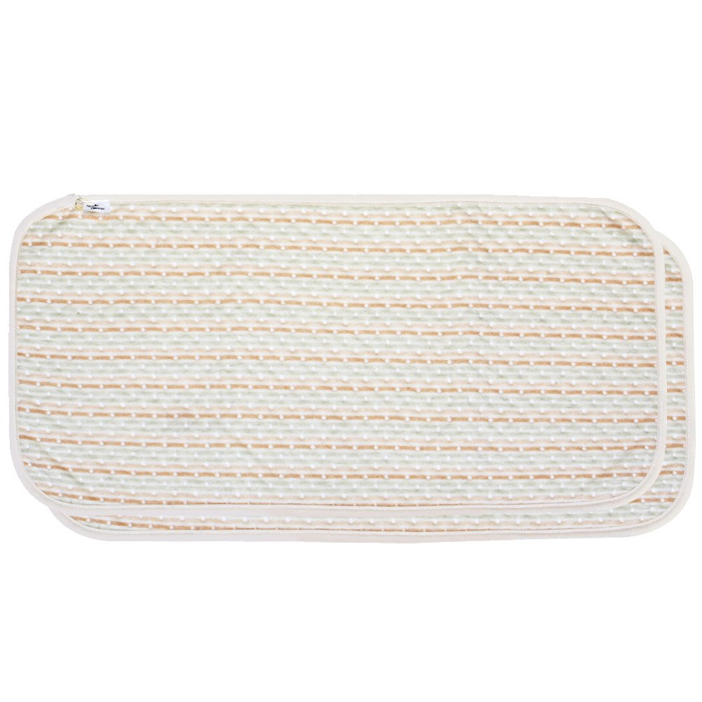 Portable Waterproof Diaper Changing cushioning Pad Bamboo Cotton Mat (2 Count)