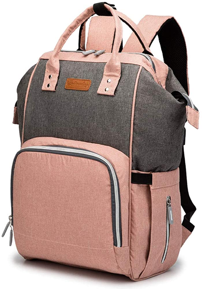 Baby Diaper Bag Backpack Travel Polyester Fiber Stylish Nappy Bag