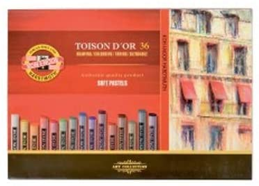 KOH-I-NOOR - Toison DOr - 129189 - Soft Pastels - Set of 36 Assorted Colours in a Cardboard Box