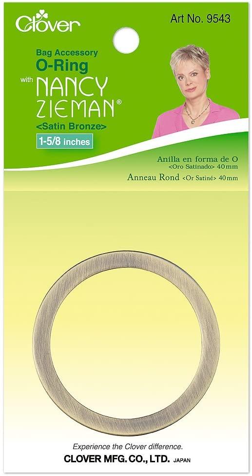 CLOVER Nancy Zieman Bag Hardware Options O-Ring 1-5/8-Inch, 40mm Satin Bronze, 1-Per Package