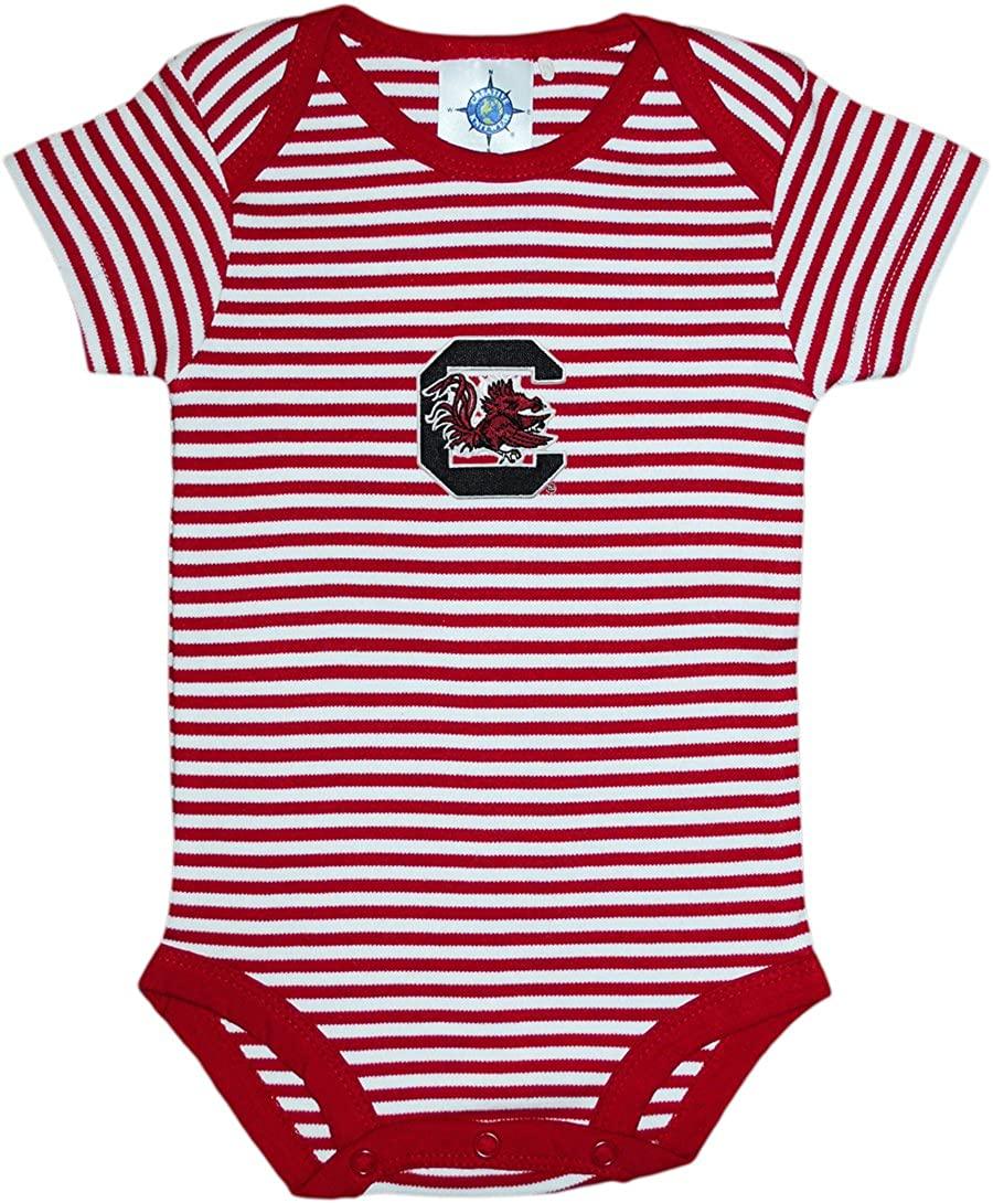 University of South Carolina Gamecocks Striped Baby Bodysuit