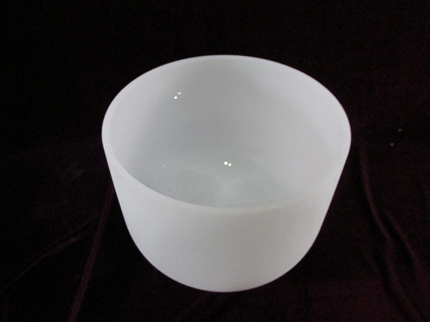 9 inch Classic Frosted Crystal Singing Bowl -- Sound Healing -- C# Note Adrenals Chakra