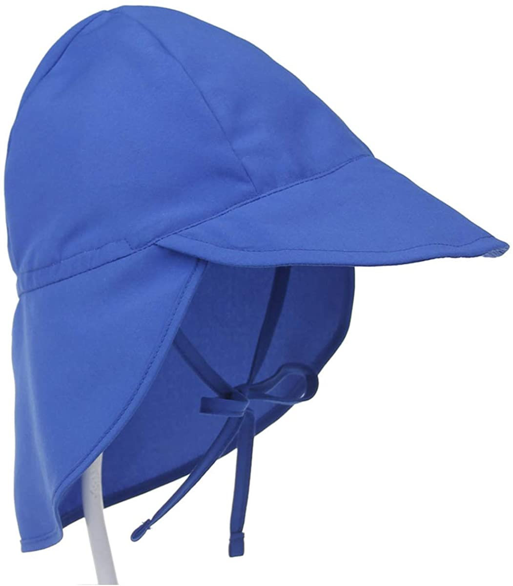 BOZEVON Toddler Beach Hat, Adjustable Soft Sun Hat, Uv Protection and Wind Protection