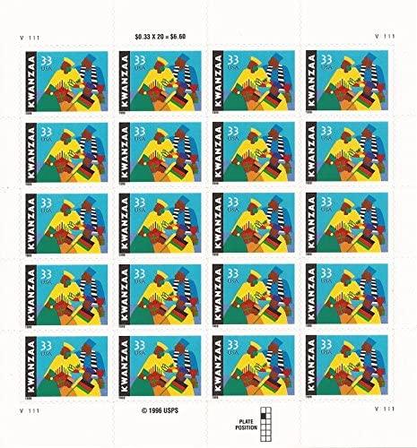 US Stamp - 1999 33c Kwanzaa - 20 Stamp Sheet - Scott #3368