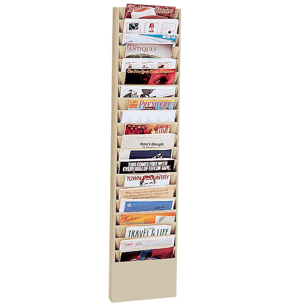 DURHAM Literature Rack - 13-1/8 x4-1/8 x58 - 20 Pockets - Tan
