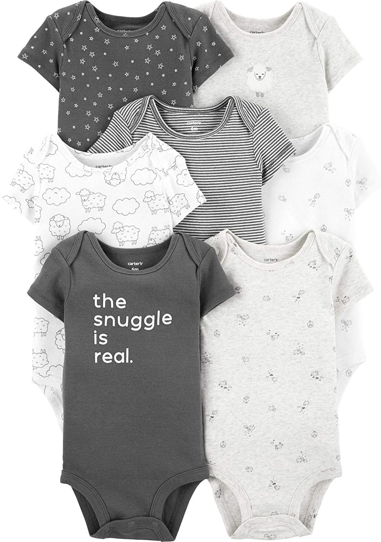 Carter's Baby Boys' Multi-pk Bodysuits (Neutral, 12 Months)