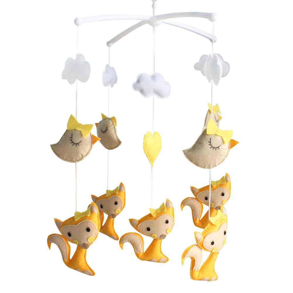 Homemade Baby Crib Mobile Nursery Mobile Hanging Toy for 0-2 Years, MN37