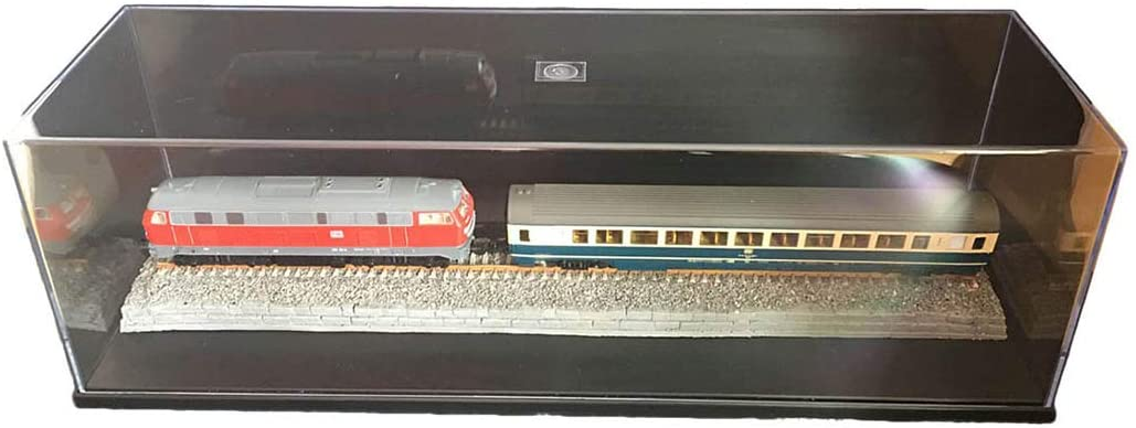Yamix 50.1 x 14.9 x 14.6cm HO Scale Model Train Display Case with 48cm Old Orbitals (No Train)