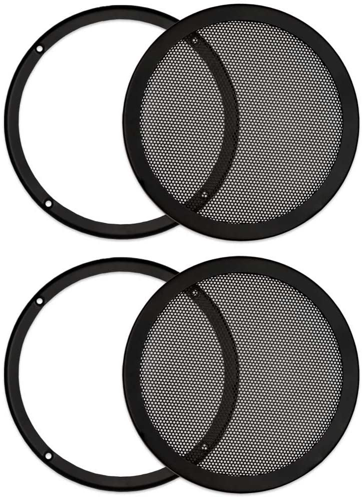 Goldwood Sound, Inc. Monitor Speaker And Subwoofer Part, Heavy Duty Steel Mesh Snap On Woofer Grills for 8