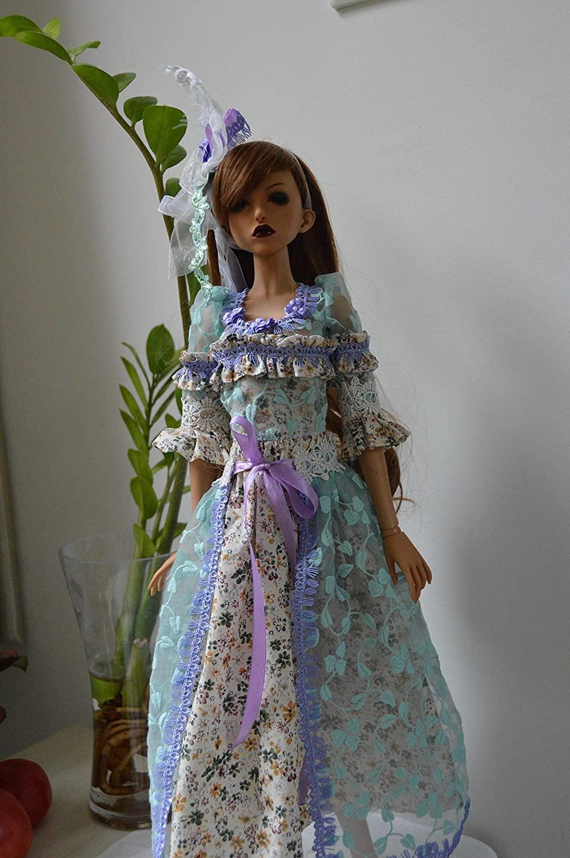 3 PCS 1/3 SD DDS DDM DDL BJD Dress Suit Outfit / Princess Lavender Doll Dollfie LUTS / BJD Doll Dress Suit / Purple