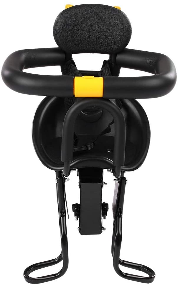 SAIDISH Bicycle Child Seat Safe and Secure Baby Seat Environmentally Friendly Front Mountain Bike Child Seat (Color : Black)