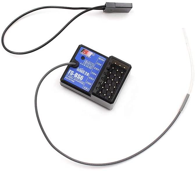 FlySky FS-BS6 Receiver 2.4Ghz 6CH AFHDS2 for FlySky FS-GT5 FS-IT4S RC Car Boat Transmitter