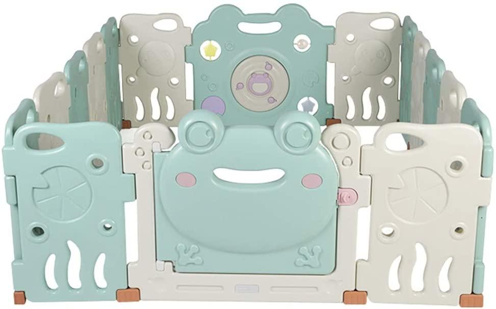 PUEEPDEE Baby Indoor Playpen Baby Plastic Big Playpen Room Divider Child Kids Barrier Expandable Plastic Baby Den Playpen Indoor Amusement Park (Color : Pink, Size : 192x155x63cm)