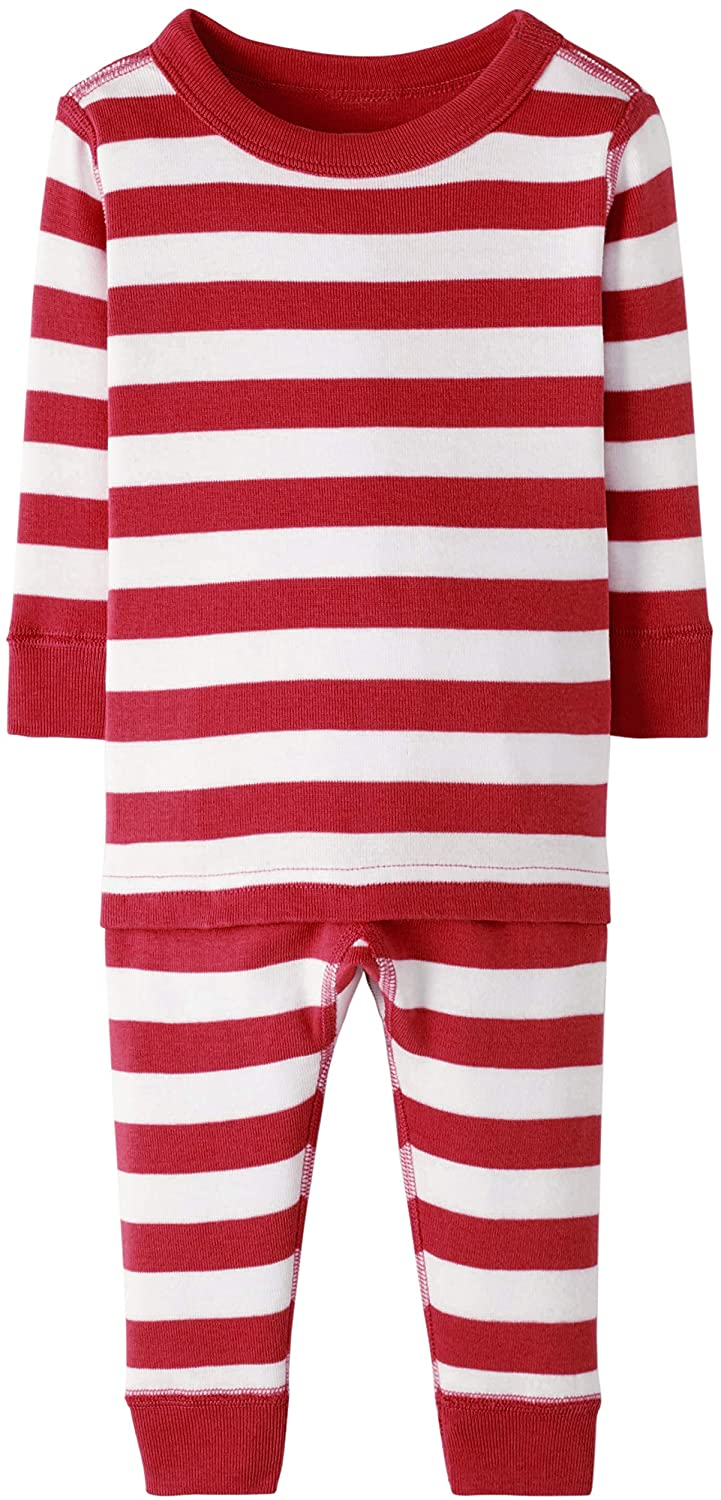 Hanna Andersson Baby/Toddler 2-Piece Organic Cotton Pajama Set Hanna Red/Hanna White-50