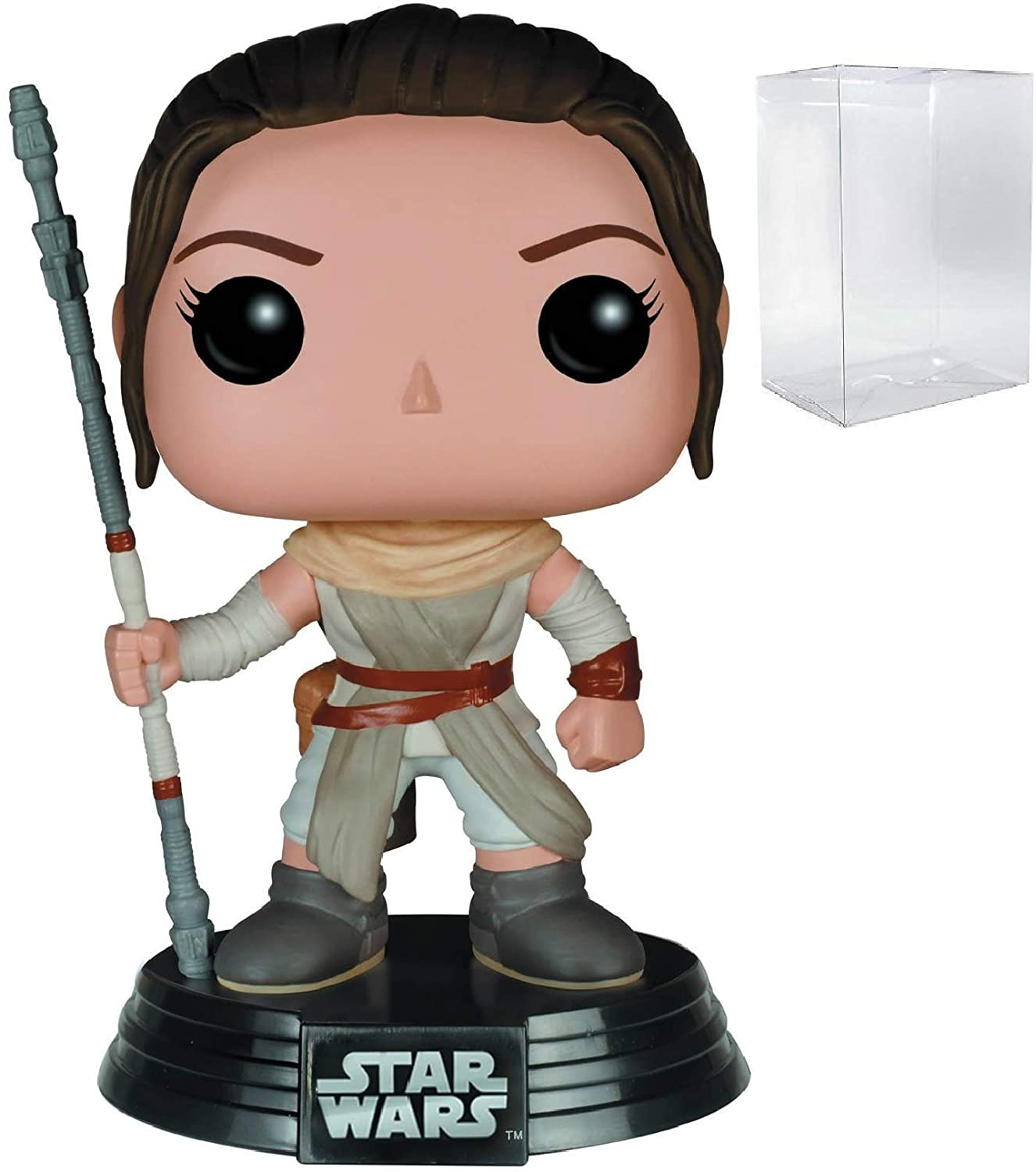 Funko Star Wars: The Force Awakens - Rey Pop! Vinyl Figure (Includes Compatible Pop Box Protector Case)