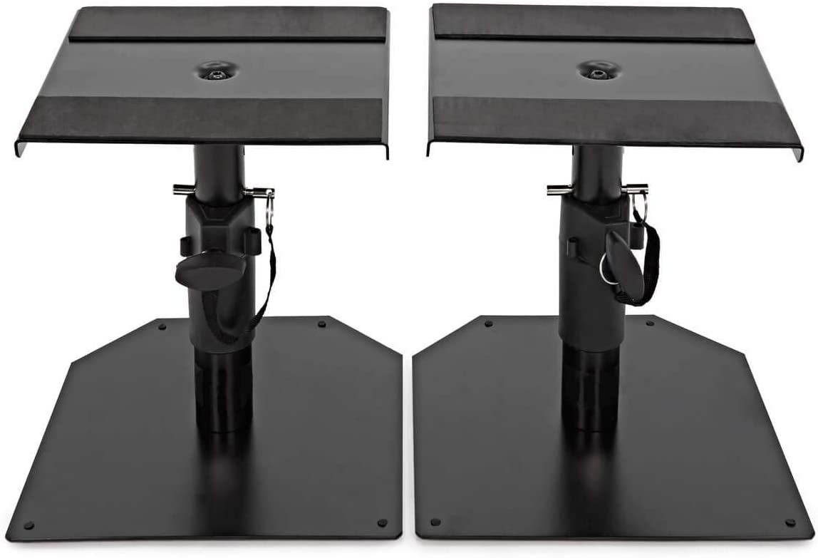 Record SS-18 Monitor Stand Set for Table Height Adjustable (18.5 to 28.5 cm) Non Slip Rubber on Top Plate