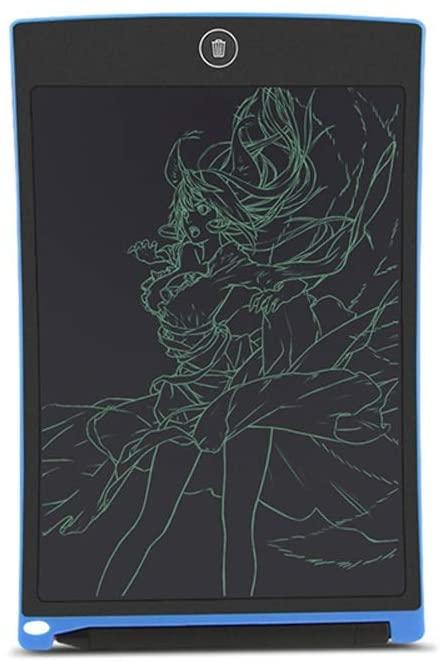 LDYOC Newer Blue 8.5-inch Writing Tablet Electronic Digital Graphics Durable Doodle Erasable Magic for Kids, Designer, Students, Family, Office (Blue Black) ( Color : Black )
