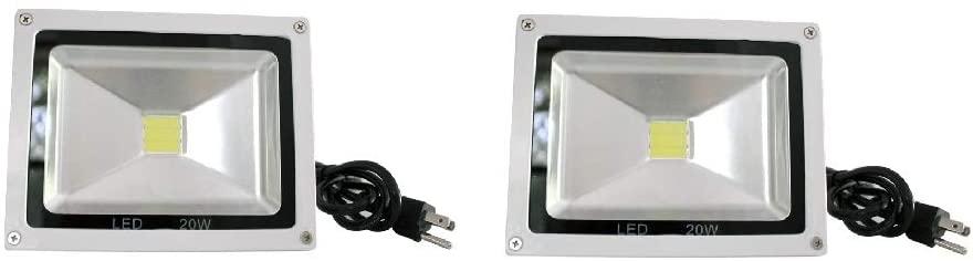 [2-Pack] Strobe light 20W DJ LED Strobe Flood Light Party Disco