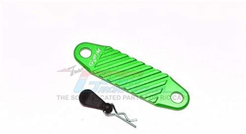 Tamiya Mercedes-Benz G500 CC-02 (#58675) Upgrade Parts Aluminum Battery Hold-Down - 2Pc Set Green
