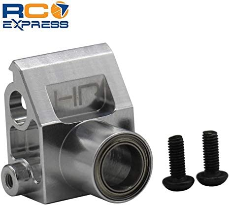 Hot Racing HOR48BB08 Silver Front Bearing Steering Mount