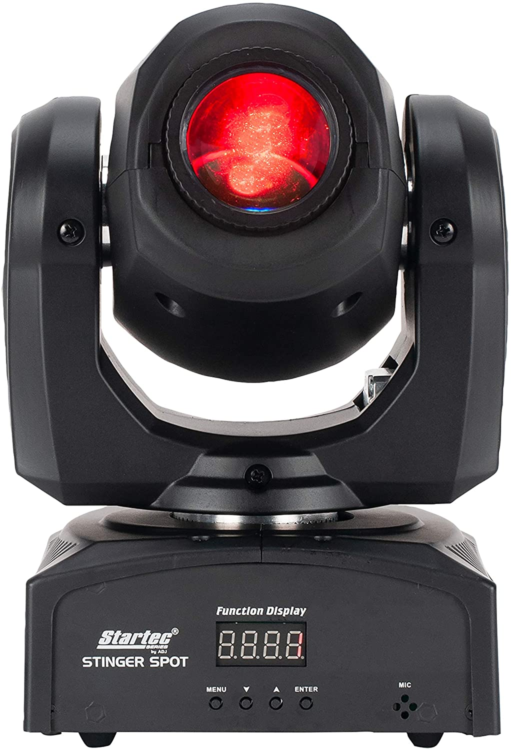 ADJ Products Stinger Spot is a mini Moving Head with a bright 10-Watt LED source