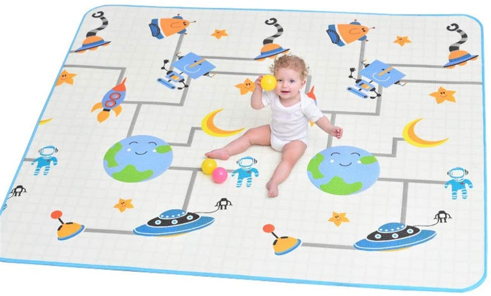 Portable playmat Play Mat Baby Crawling Mat Kids Playmat Waterproof Non Toxic for Babies Infants Toddlers (Color, Size : 150cm180cm2cm)