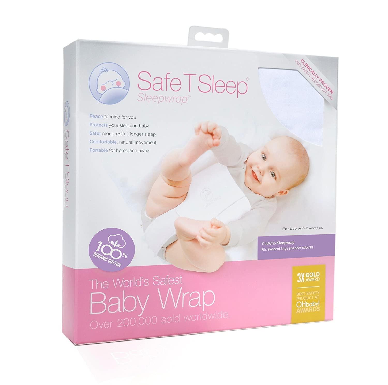 Safe T Sleep Sleepwrap Babywrap, Swaddle: Cot/Crib Model: Fits Standard and American Size Crib/Cot (130 cm L x 70 cm W x 12-15 cm) for Babies Aged Newborn to 2 Years Plus