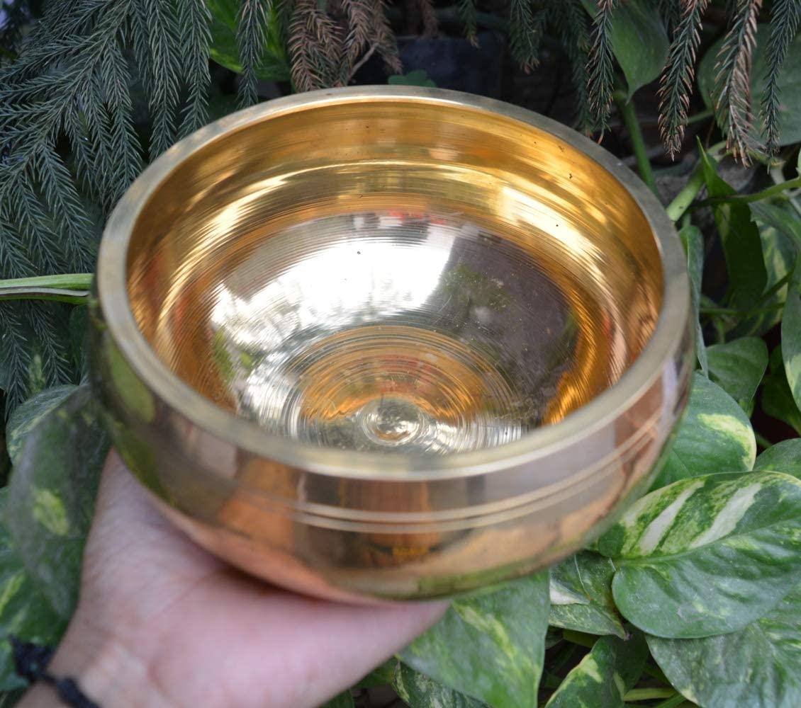 Shiva Lingam Shop Buddhism Chakra Buddhist Meditation Brass Singing Bowl~I-4755